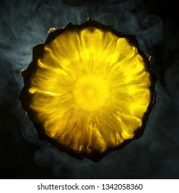 Pineapple on a dark background