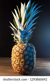 pineapple on wooden table
