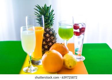 pineapple and orange