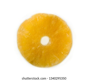 pineapple rings, dry and sweet.