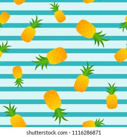Pineapple seamless summer pattern