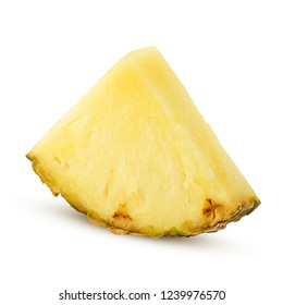 pineapple slice isolated on white background, clipping path, full depth of field