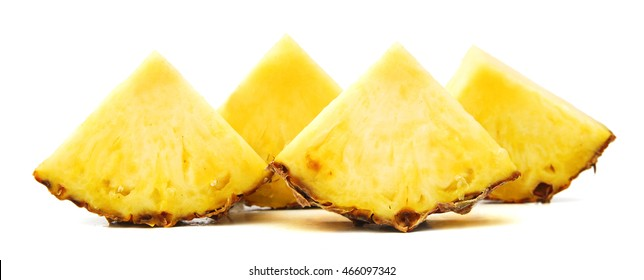 pineapple slice isolated on white background