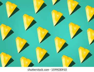 pineapple sliced pattern background Retro STYL tropical style concept Pattern with hipster pineapple summer decoration background pineapple background modern - Shutterstock ID 1599030910