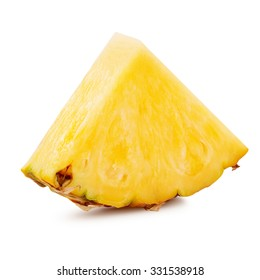 pineapple slices isolated Clipping Path