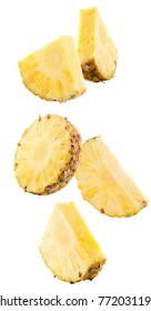 pineapple slices isolated on a white background