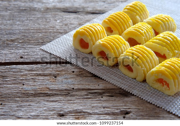 Pineapple tart biscuits. Famous Malaysia biscuit for Eid Fitri festival.