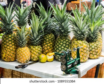 Pineapples and Oranges on Table
