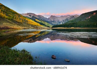 Piney Lake at Sunset, near Vail Colorado