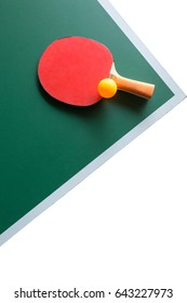 Ping pong paddles and ball  isolate  on white  background