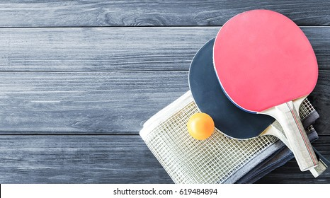 Ping Pong Table Tennis Racket Poster