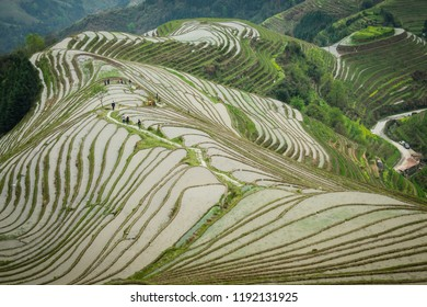 Ping An rice terraces in Guanxi, China