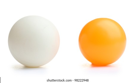 ping-pong ball isolated on white