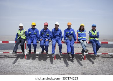 Pingshuo,China-May 24,2012:Chinese worker working at coal mining site