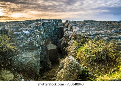 Pingvellir (Thingvellir), a site of historical and cultural national park in southwestern Iceland, boundary between the North American tectonic plate and the Eurasian