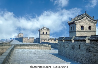 Pingyao City Wall - Shanxi, China. The walls surrounding the city of Pingyao were first built in the Xizhou Dynasty, and have a history of about 2,700 years