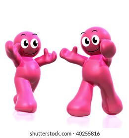 Pink 3d icon illustration