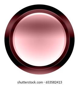 Pink abstract web button on a white background