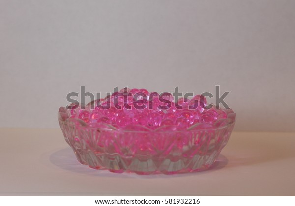 Pink aromatic soap beads for home