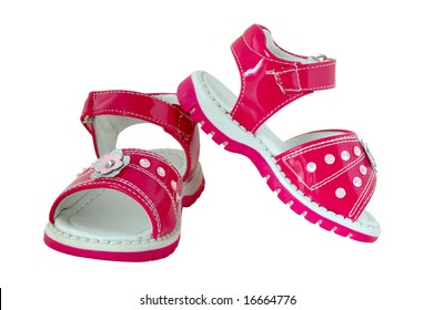 Pink baby's sandals.