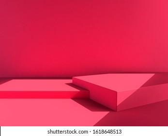 pink background, pink backdrop, scene, chinese new year, valentine, love mood heart tone. 3d rendering wallpaper studio set - Shutterstock ID 1618648513