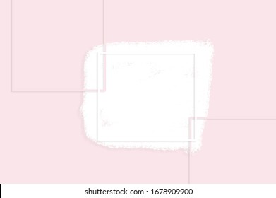 pink background, square on a pink background
