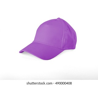 Pink Baseball Cap on white background