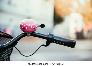 Pink bike bell, urban city, livestyle