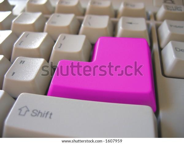 pink blank keyboard button