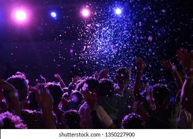 Pink & blue foam festival
