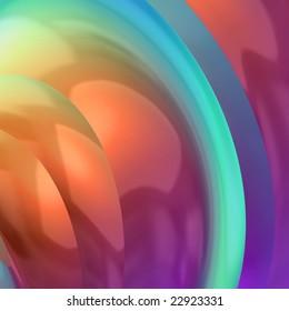 Pink blue orange & yellow circular abstract background
