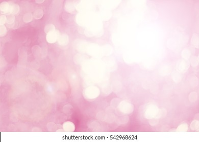 Pink blur bokeh leaf empty clean space background concept for modern eco summer banner, valentine day card, retro bio field. Vintage pastel sweet color shade boke wallpaper.