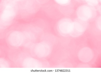 Pink bokeh background from nature