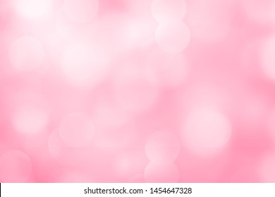 Pink bokeh background from nature          - Image
