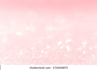 Pink bokeh and glitter blurred background, Vintage, pastel, background
