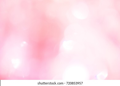 Pink bokeh light background.