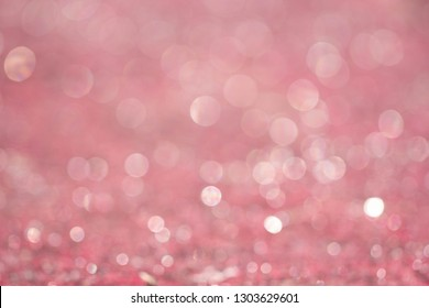 Pink bokeh lights on the background