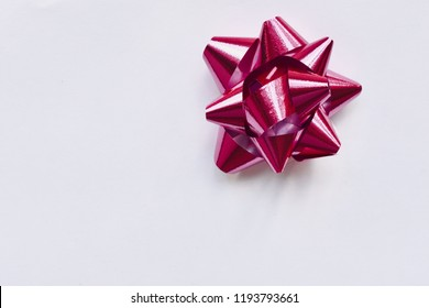 Pink bow isolated