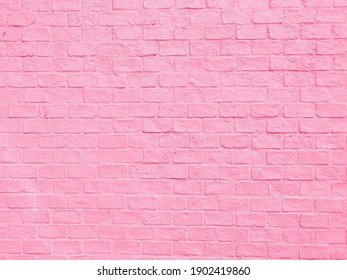 pink brick background wall texture,pink Pastel wallpaper for woman concept