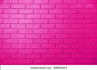 Pink brick wall background