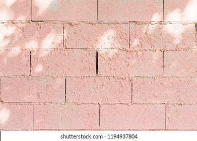 Pink brick wall background (Marche, Italy, Europe)