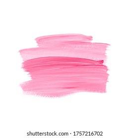 Pink brush paint acrylic background. Creative logo design.