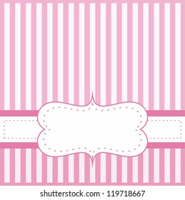 Pink card invitation baby shower wedding stock illustration pink card or invitation for baby shower wedding or birthday party with white stripes on stopboris Images