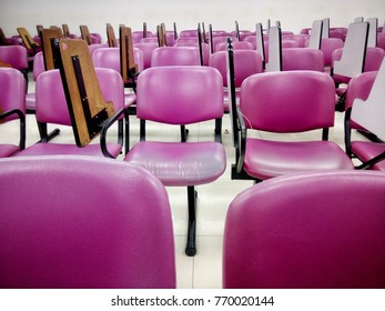 pink chair in school