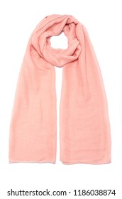 pink chiffon scarf isolated on white