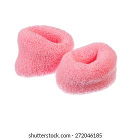 pink childish elastic hairgrip isolated