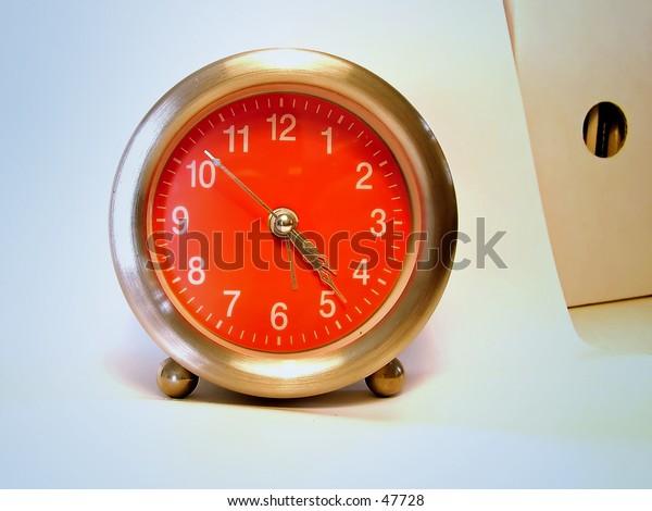 Pink clock  - office