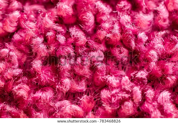 Pink cloth texture macro. Background