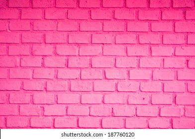 Pink color of brick wall
