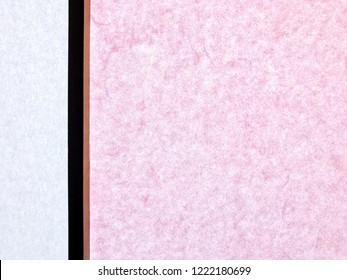 Pink colored Shoji window, Japanese architecture for door or window for room divider consisting of translucent paper over a frame of wood